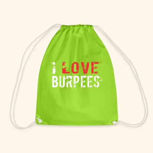 I love Burpees - Turnbeutel