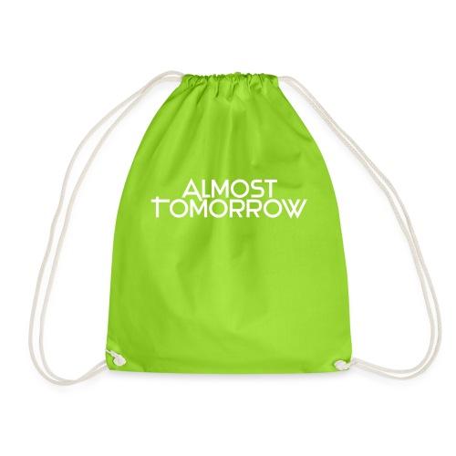 Almost Tomorrow Logo White - Turnbeutel