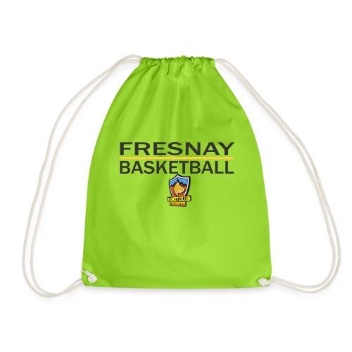 Fresnay basketball avec logo et trait jaune - Sac de sport léger