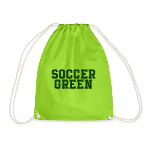 Soccer Green Style Text - Sacca sportiva