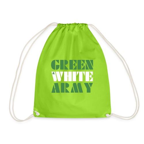 GREEN & WHITE ARMY - Drawstring Bag