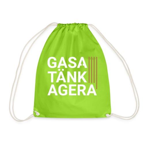 T-shirt för inspiration. Gasa-Tänk-Agera - Gymnastikpåse