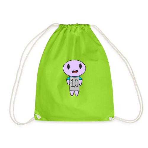 ahhhh ten on a t-shirt - Drawstring Bag