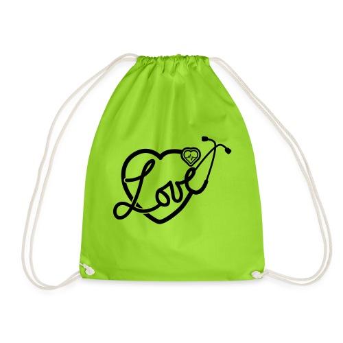 Heathcare Heart Design - Drawstring Bag