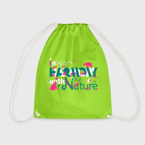 In Harmony With Nature - Drawstring Bag
