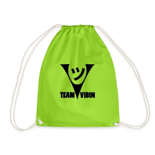 Team Vibing Logo Svart - Gymnastikpåse