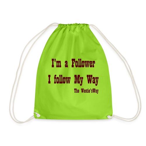I follow My Way Brown - Worek gimnastyczny
