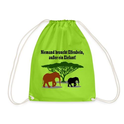 Niemand braucht Elfenbein, außer ein Elefant! - Turnbeutel