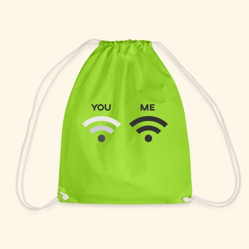 You vs. Me, Bad Wifi - Drawstring Bag