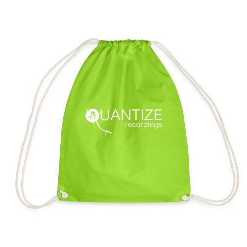 Quantize White Logo - Drawstring Bag