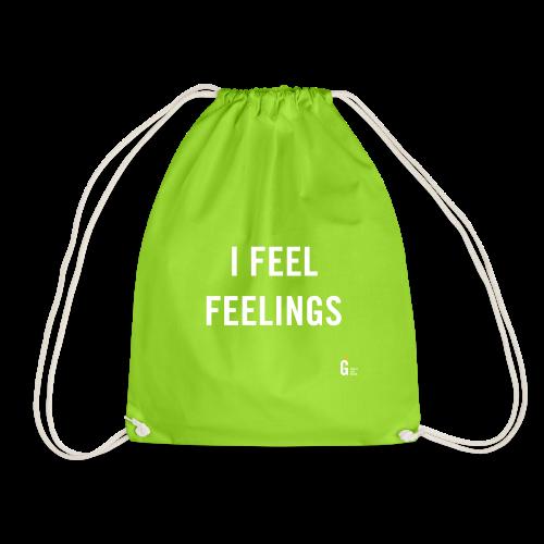 I feel feelings - Drawstring Bag