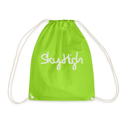 SkyHigh - Women's Premium T-Shirt - Gray Lettering - Drawstring Bag