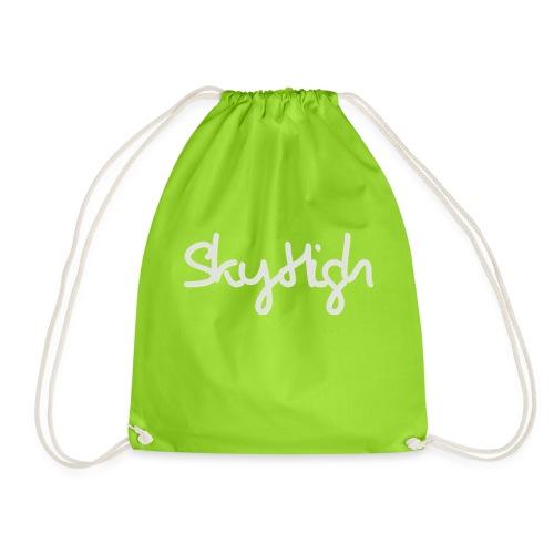 SkyHigh - Women's Hoodie - Gray Lettering - Drawstring Bag