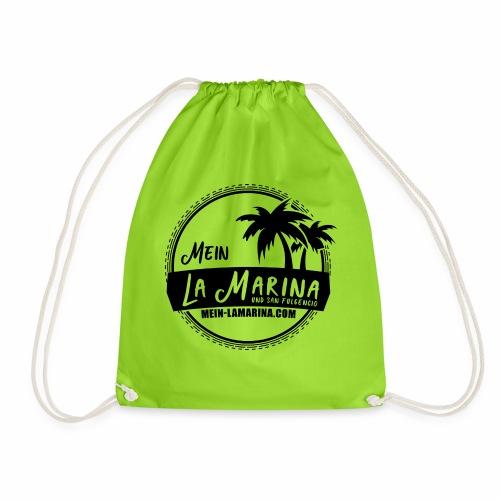 La Marina und San Fulgencio Logo in s/w - Turnbeutel