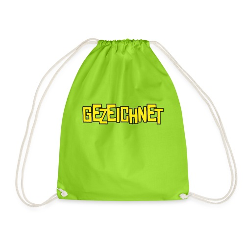 Gezeichnet Logo Gelb - Turnbeutel