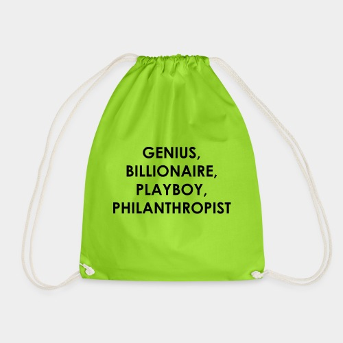 Genius Billionaire Black - Drawstring Bag