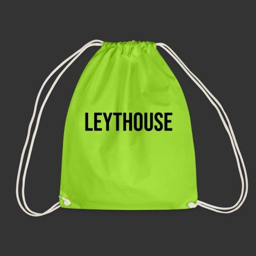 LEYTHOUSE main logo black - Drawstring Bag