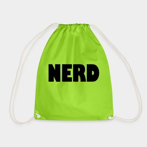 NERD Text Logo Black - Drawstring Bag