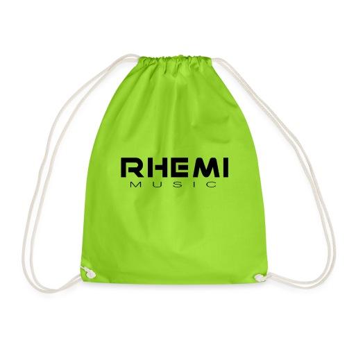 Classic Rhemi Logo Black - Drawstring Bag