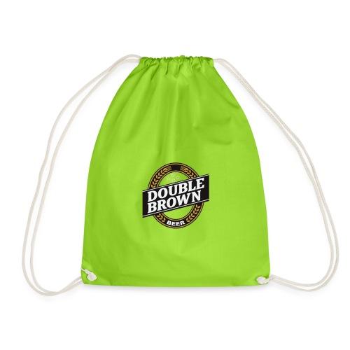 double brown beer - Drawstring Bag