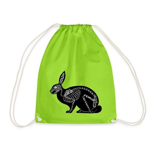 Rabbit skeleton - Drawstring Bag