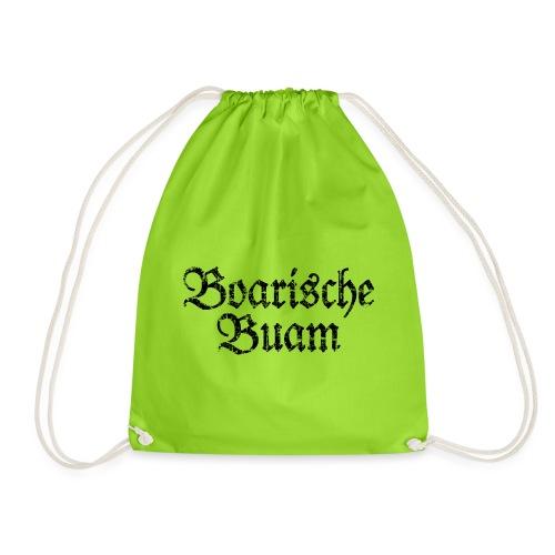 Boarische Buam Männer aus Bayern (Vintage Schwarz) - Turnbeutel