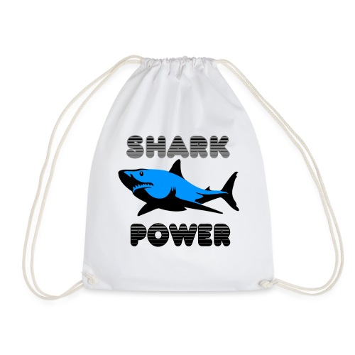 Shark Power Blau - Turnbeutel