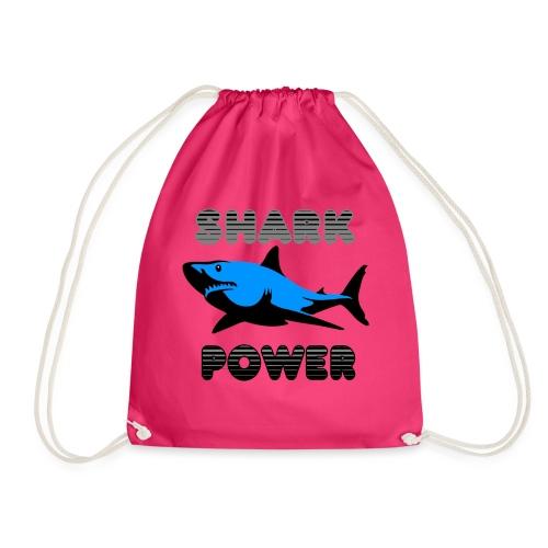 Shark Power Blau - Turnbeutel