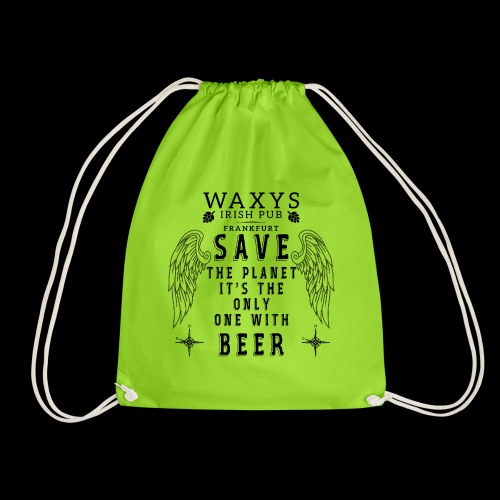 WAXYS HEROE LOGOS PLANET BEER 15 - Drawstring Bag