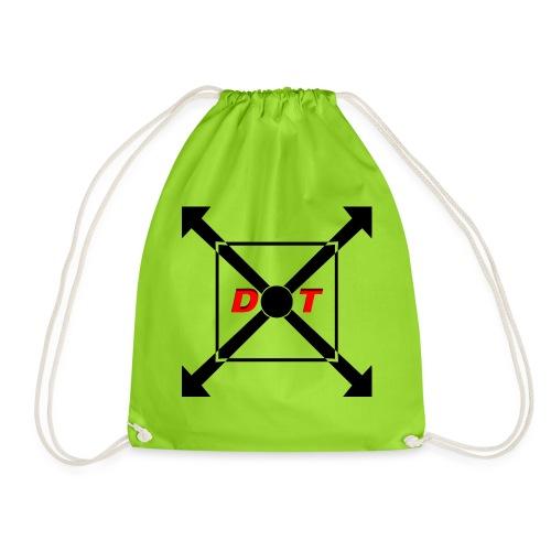 dot logo back - Drawstring Bag