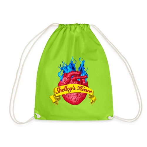Shelley s Heart Logo - Drawstring Bag