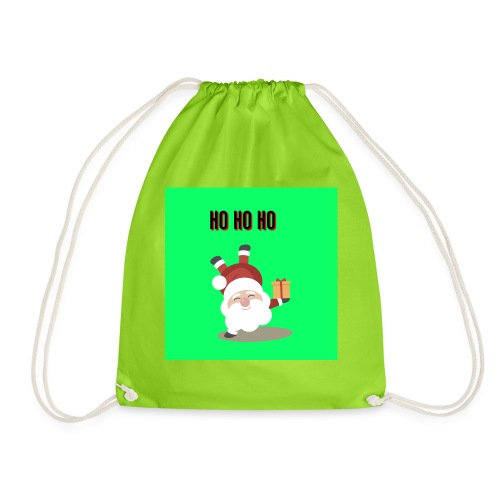 acrobatic santa - Drawstring Bag