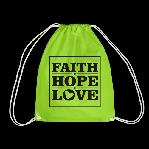 FAITH HOPE LOVE / FE ESPERANZA AMOR - Mochila saco