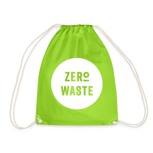 ZERO WASTE - white - Drawstring Bag
