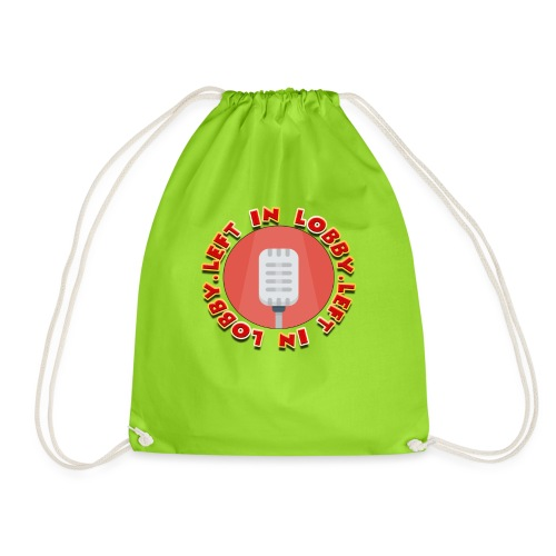 the left in lobby podcast - Drawstring Bag