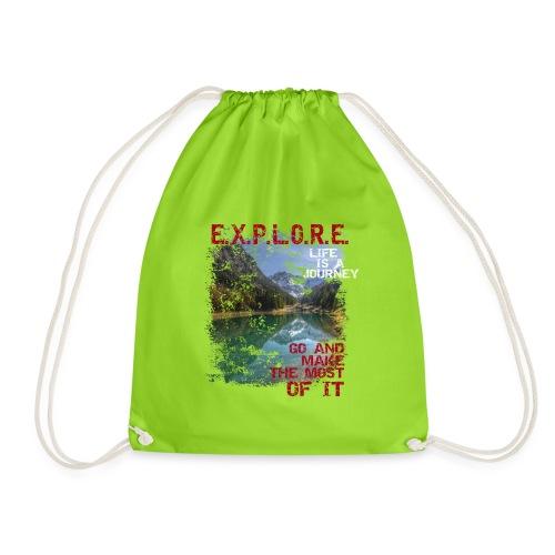 Explore - life is a journey - Turnbeutel