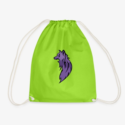 Long Hair Purple Wolf - Drawstring Bag