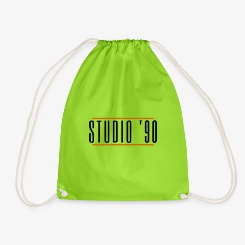 Logo zwart Studio 90 - Gymtas