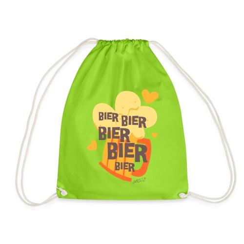 Bier Bier Bier Bier der Gag für den nächste Urlaub - Turnbeutel