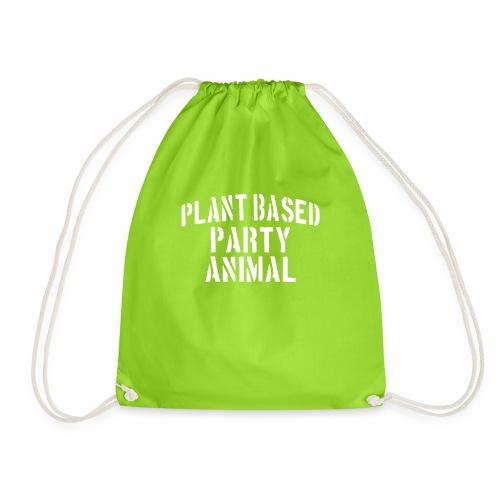 Plant Based Party Shirt Veganer T-Shirt Geschenk - Turnbeutel