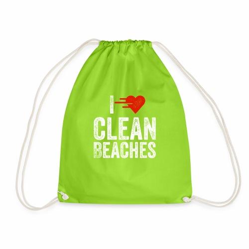 I Love Clean Beaches Shirt Save the Planet Shirt - Turnbeutel