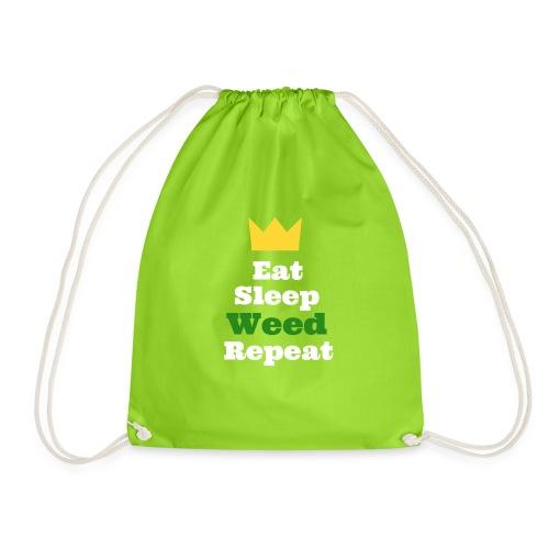 Eat Sleep Weed Repeat Tees by SeSQoOo - Drawstring Bag