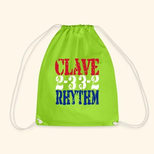 Clave Rhythm Salsa Music Dance Gift T-Shirt - Drawstring Bag