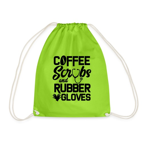 Coffee scrubs and rubber gloves - Drawstring Bag