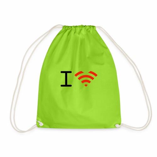 I love Wifi - Turnbeutel