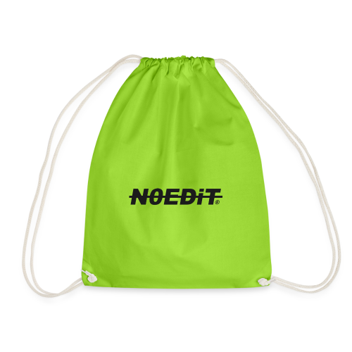 No Edit Black Logo - Drawstring Bag