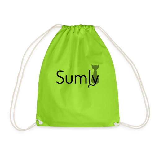 Sumly Black - Drawstring Bag