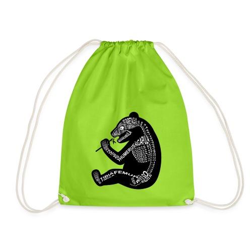 Panda skeleton - Drawstring Bag