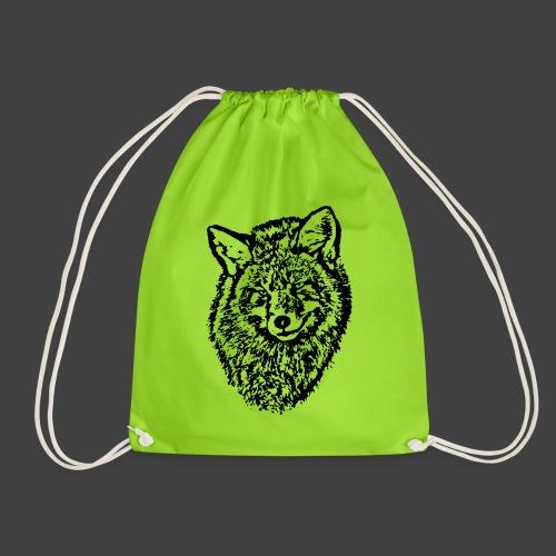 FOX1 - BLACK - Drawstring Bag