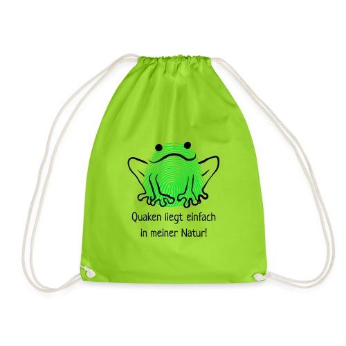 Quaken liegt einfach in meiner Natur! Frosch neon - Turnbeutel